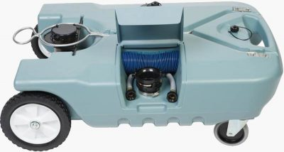 4 wheel tote-n-stor portable RV septic tank