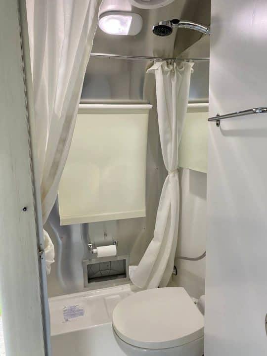 Airstream Bambi small RV trailer bathroom
