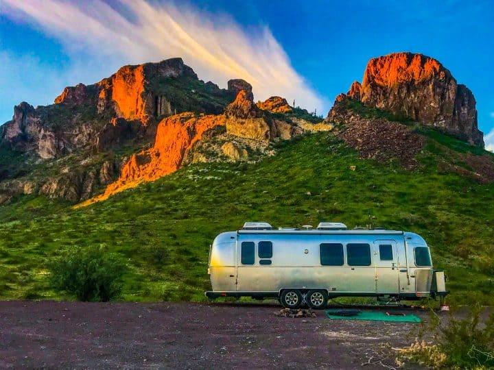 Airstream trailer boondocking