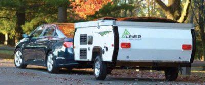 Aliner Pop-Up trailer folded