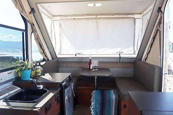 Aliner small camper interior