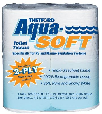 Aqua Soft RV toilet paper