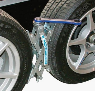 BAL X-Chock RV wheel chock installed