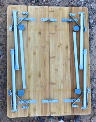 Beckworth bamboo portable folding table bottom