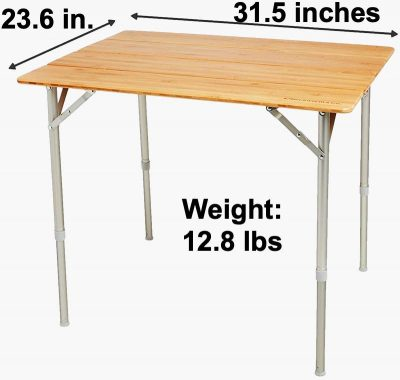 Beckworth large size folding portable table dimensions