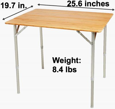 Beckworth standard size folding portable table dimensions