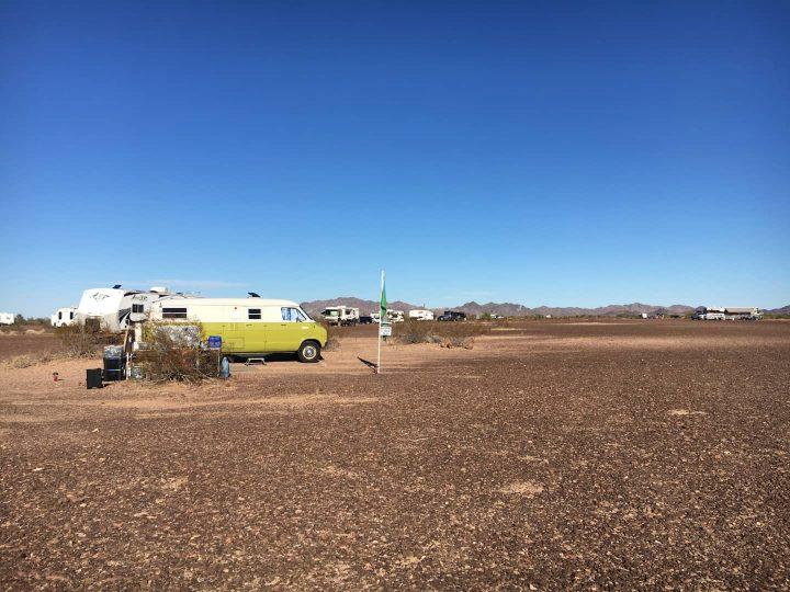 Boondocking at Quartzsite Arizona