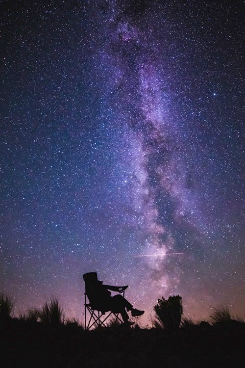 Camp chair under Milky Way