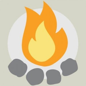 Camp Addict Fire Logo
