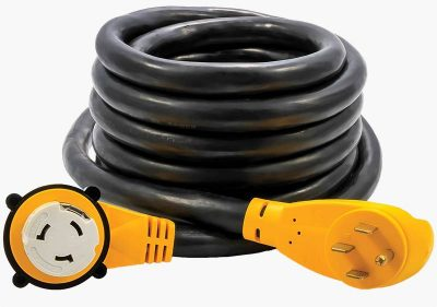 Camco 55574 50 amp RV power cord 90 degree