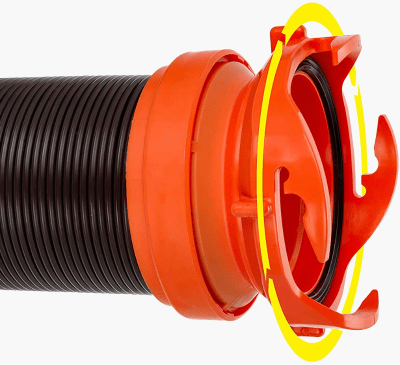 Camco RhinoFLEX RV septic hose rotating end