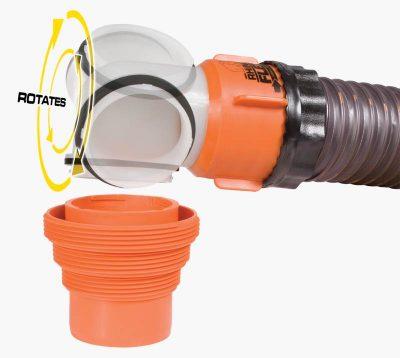 Camco RhinoFLEX camper sewer hose 90 degree end