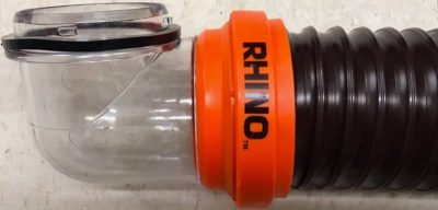 Camco RhinoFLEX clear 90 degree end
