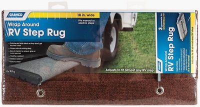 Camco wrap around RV step rug package