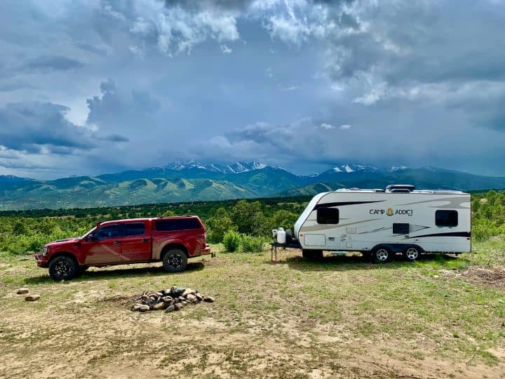 Camping in national forest Salida Colorado
