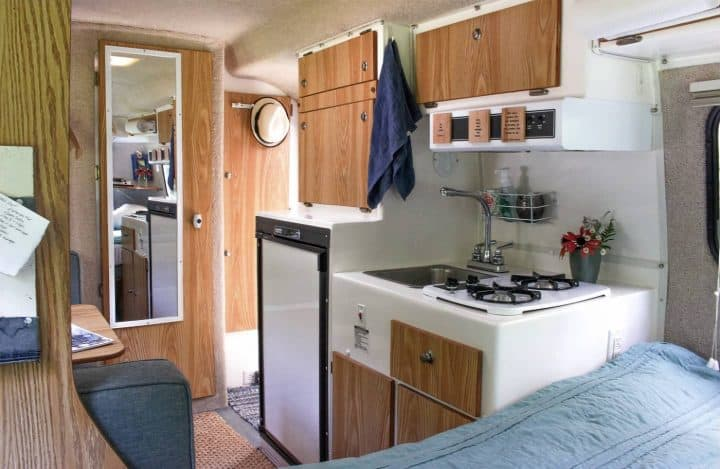 Casista small travel trailer kitchen
