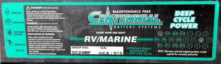 Centennial Battery Systems label