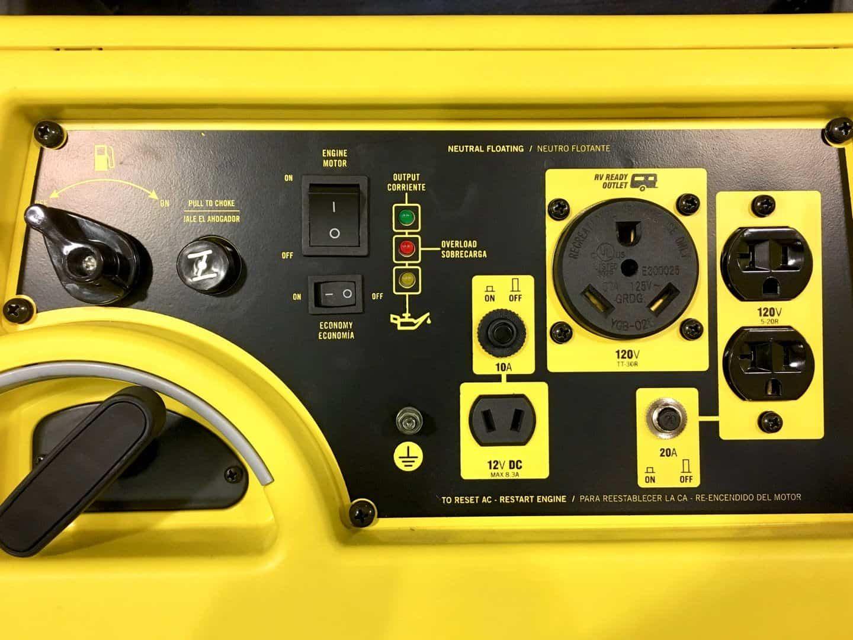 Champion 75531i control panel