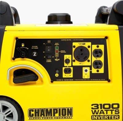 Champion 75531i inverter generator right detail