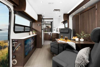 Class B+ Motorhome Interior with murphy bed