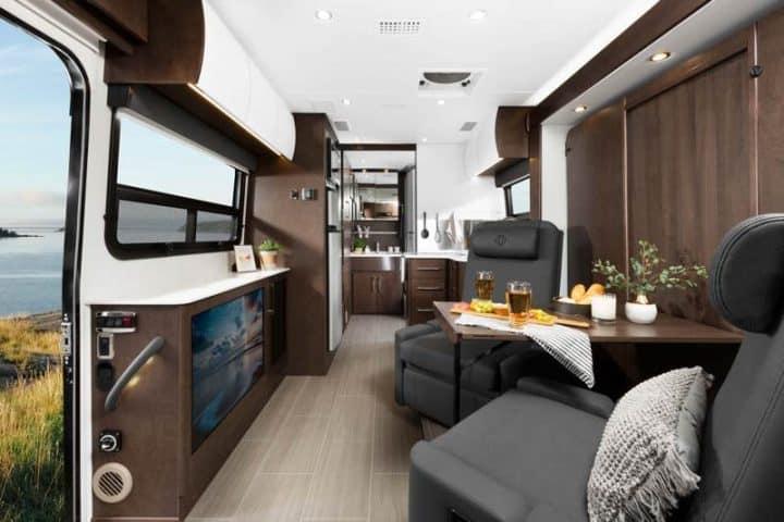 Class B+ Motorhome Interior with murphy bed
