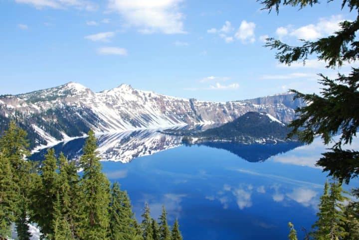 Crater Lake National Park lake mountain