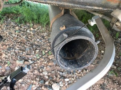 Cutting RV sewer outlet nubs