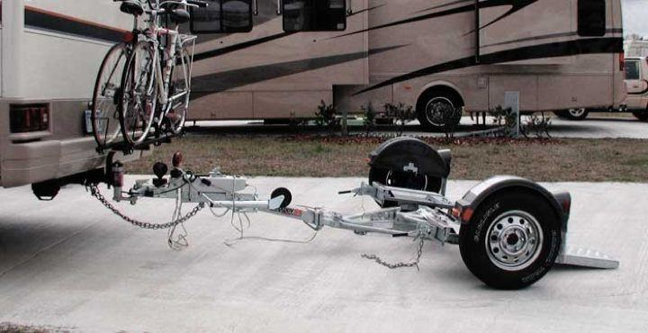 Demco Kar Kaddy SS RV tow dolly tilted position