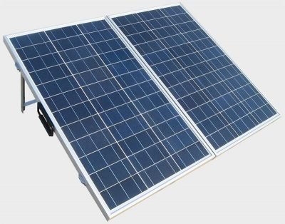 Eco-Worthy 120 watt poly folding solar panel front