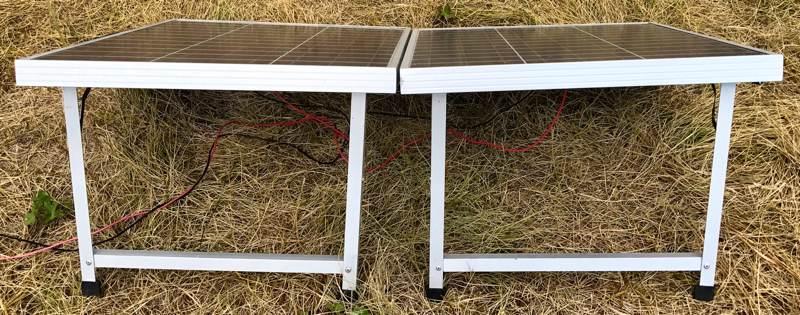 Eco-Worthy portable solar panel back