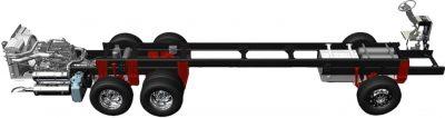 Freightliner diesel pusher motorhome chassis
