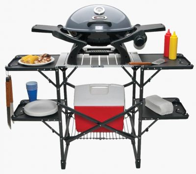 GCI Outdoor Slim Fold Cook Station with product