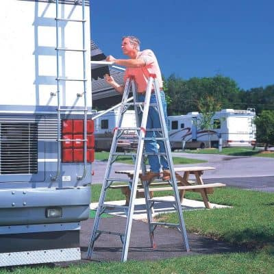 GP folding RV ladder in use