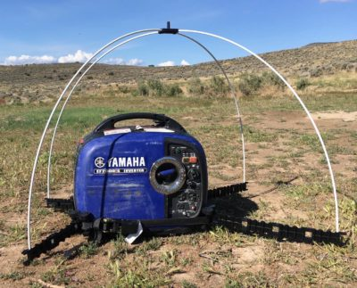 GenTent canopy supports on Yamaha generator