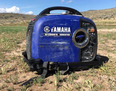 GenTent strap on Yamaha generator