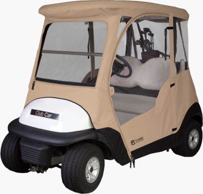 Golf cart cover enclosure