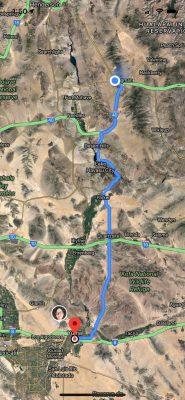 Google Maps Kingman to Yuma AZ