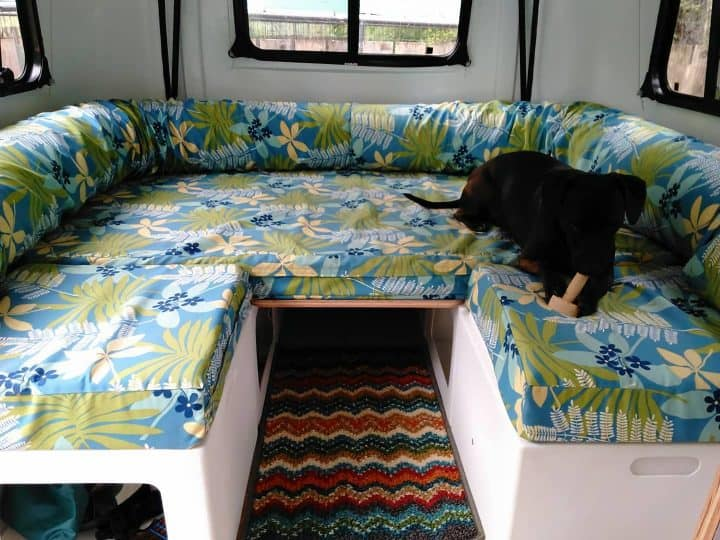 Happier Camper small camping trailer sleeping area