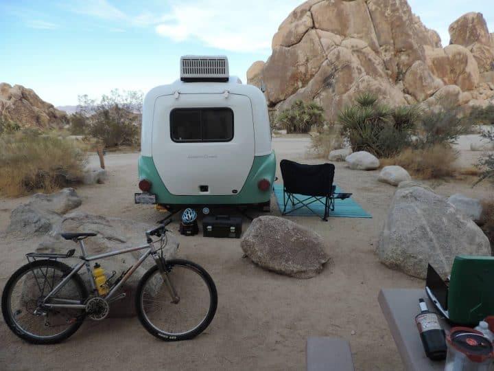 Happier Camper small trailer camper exterior rear