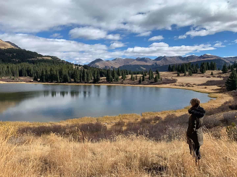 Kelly at LIttle Molas Lake Colorado