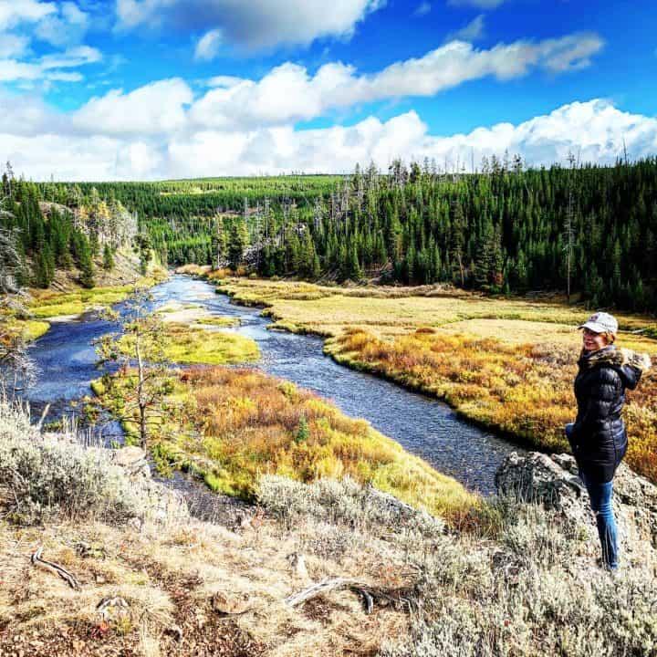 Kelly at Yellowstone National Park