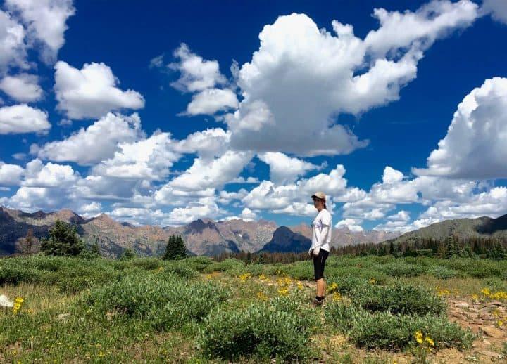 Kelly hiking in Colorado