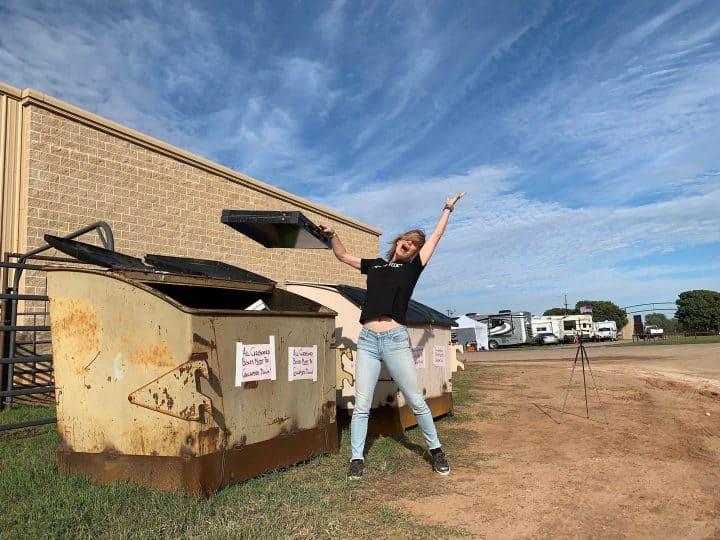 Kelly throwing away ground deploy solar panel
