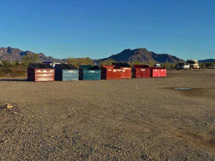 La Posa South dumpsters