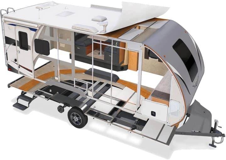 Lance travel trailer construction cut away