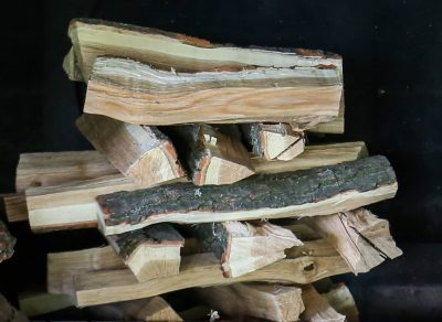 Lincoln log style firewood stack