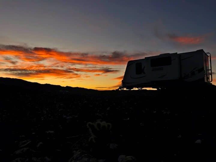 Marshall Rig Quartzsite Sunset