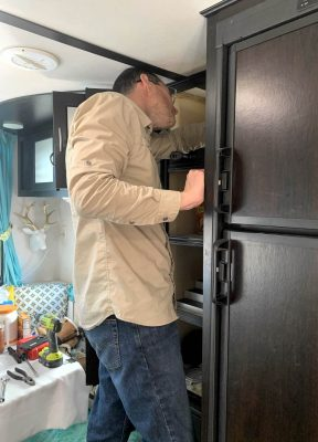 Marshall installing combiner box