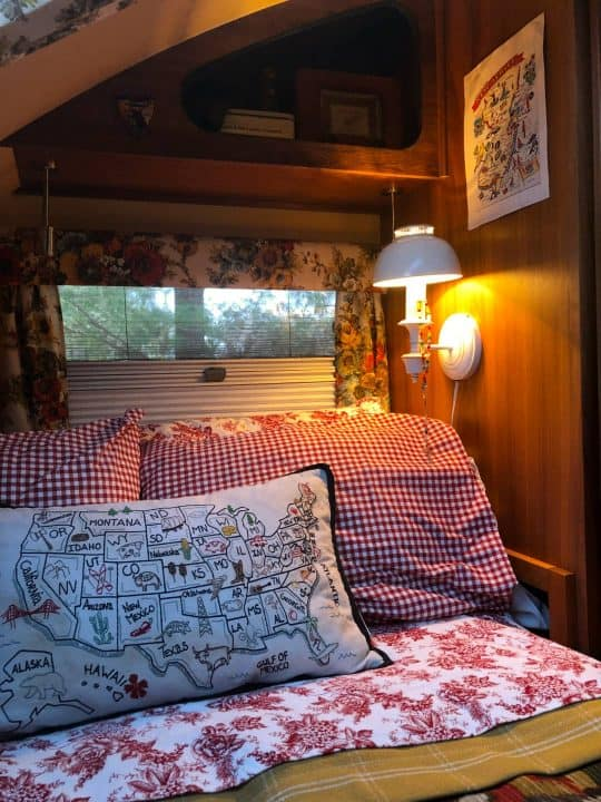 Max small camp trailer bedroom