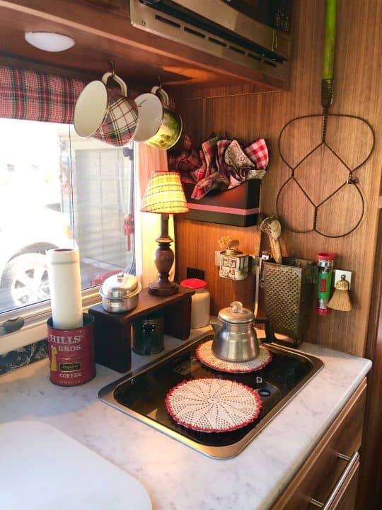 Max small camping trailer kitchen